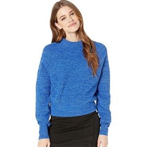 Free People Too Good Pullover Sweater Cobalt Blue